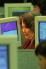 金融商业0282,金融商业,商业金融,西方女人 左侧脸 电脑