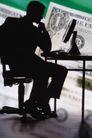 金融商业0288,金融商业,商业金融,沉思中的男人 电脑 钞票