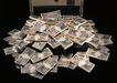 金融市场0057,金融市场,商业金融,密码箱 打开 一叠叠钱
