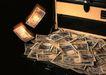 金融市场0058,金融市场,商业金融,发光 飘落 面值1000元