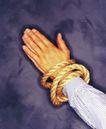 商业合作0059,商业合作,商业金融,手掌并拢 绑着 手心相对