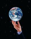 商业合作0092,商业合作,商业金融,地球 商务人士 举起