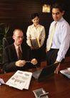 商业交流0289,商业交流,商业金融,检查工作 双手拿笔 虚心听取