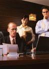 商业交流0290,商业交流,商业金融,公司 管理层 开会 电脑 秘书
