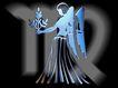 3D制作0012,3D制作,科技,握草的女人 处女座 长翅膀的美女 美女侧面 天使 星座 占卜 运势 月份