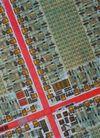 电子电板0134,电子电板,科技,城市 主干道 鸟瞰图 红色 建筑群
