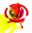 世界指南0018,世界指南,科技,科幻 红色 地球仪 环境 大气
