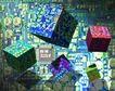芯片主板0167,芯片主板,科技,立体 电子 魔方