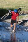 登山运动0104,登山运动,运动,赛车手  大草原  背着单车  过水沟