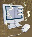 抽象金融0030,抽象金融,金融,电脑 鼠标 美元符号