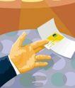 抽象金融0039,抽象金融,金融,卡片 名片 递出