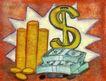 抽象金融0043,抽象金融,金融,硬币 钞票 S