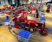 工业生产0067,工业生产,工业,平板车 拉动 运载