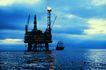 工业生产0072,工业生产,工业,海面 油井 燃烧
