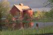 外窗绿化0102,外窗绿化,园林,房子 湖边 草地