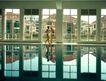 园林别墅0174,园林别墅,园林,室内泳池 两个少女 晨练