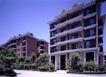园林别墅0187,园林别墅,园林,粉色楼房  绿树 广场