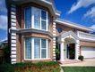 园林别墅0201,园林别墅,园林,别墅一角 落地窗 花围