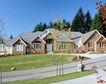 园林别墅0211,园林别墅,园林,三角形屋顶 松树 街道