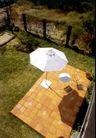 园林绿化0163,园林绿化,园林,户外 伞 休闲椅