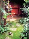 园林绿化0169,园林绿化,园林,竹杆 棕叶  木屋