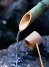 园林种植0132,园林种植,园林,竹筒 竹勺 流水 清爽 生命之源
