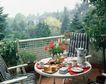 餐厅0104,餐厅,装饰,一盆红花 茶壶 菜盘