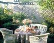 餐厅0106,餐厅,装饰,格栅 竹椅 花草