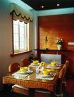 餐厅0122,餐厅,装饰,光线 餐前 摆放整齐 四人座 吊顶