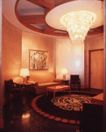 餐厅0126,餐厅,装饰,长沙发 台灯 吊顶灯 大理石地板 装饰画