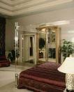 餐厅0128,餐厅,装饰,卧房 床铺 双人床 花盆 床套