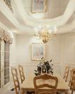 餐厅0129,餐厅,装饰,白色系 主色调 台烛 餐桌 餐椅