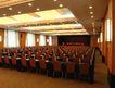 会议室0017,会议室,装饰,大会堂  金黄色 吊灯 密集 桌椅
