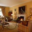 客厅0095,客厅,装饰,壁画 火炉 冬天