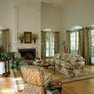客厅0103,客厅,装饰,竖纹窗帘 方形厅台 圆拱窗
