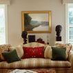 客厅0110,客厅,装饰,金色像框 塑像 沙发