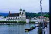 瑞士风情0015,瑞士风情,世界风光,近景 独木船 傍晚 和谐 环境