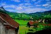 瑞士风情0024,瑞士风情,世界风光,小屋 乡下 蓝天