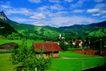 瑞士风情0034,瑞士风情,世界风光,民房 平房 绿色植物