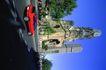 苏格兰风情0050,苏格兰风情,世界风光,红色 行驶 轿车