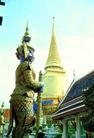 泰国风情0062,泰国风情,世界风光,侧身 黄色 塔顶
