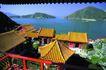 亚洲旅游0052,亚洲旅游,世界风光,黄色 凉亭 屋顶