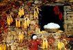 中国民间风情0159,中国民间风情,世界风光,玉米 晒玉米 老屋