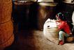 中国民间风情0163,中国民间风情,世界风光,红布鞋 麻袋 学习