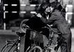 中国民间风情0164,中国民间风情,世界风光,亲吻 自行车 头巾