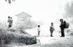 中国民间风情0174,中国民间风情,世界风光,小村庄 孩童 回望