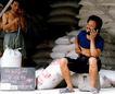 中国民间风情0209,中国民间风情,世界风光,电话 工人 编织袋