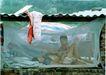 中国民间风情0210,中国民间风情,世界风光,蚊帐 石棉瓦 母子