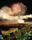 中国名胜0149,中国名胜,世界风光,烟花 城市 灯光