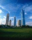 中国名胜0162,中国名胜,世界风光,楼群  草坪  广告牌